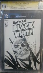Batman Black And White 1, Original Art Sketch Cover Sign. By Neal Adams Cgc 9.6 Ss