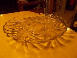Elegant Caprice By Cambridge Glass 14w Crystal Footed Cake Plate