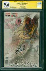 Death Of Wolverine 1 Cgc Ss 9.6 Stan Lee Game Stop Fade Variant X Men V Deadpool