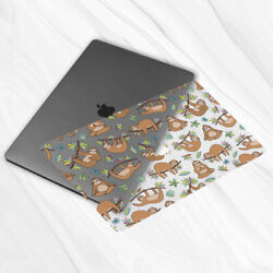 Funny Sloth Animal Floral Sticker Decal Skin For Macbook Air 11 13 Pro 13 15