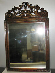 19th Cent. Carved Antique Chippendale Mirror C. 1870s