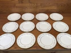 """12 Mikasa China Millbrooke 7 1/2"""" Salad Plates Excellent Discontinued"""