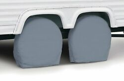 Classic Accessories Overdrive Standard Rv Trailer Wheel Cover Pair Grey Fo