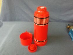 Vintage W.t. Grant Co. Grant Maid 1 Quart Red Thermos Bottle No.69385c Complete