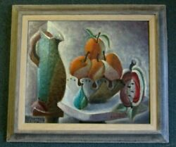 Francisco Riba-rovira Cubiest Painting By Well Listed Spanish Artist Investment