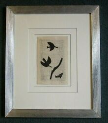 Rare George Braque Signed Cardboard Engraving A Very Limited Edition Of 50