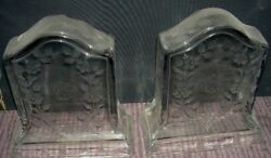 Sinclaire Glass Bookends Very Rare Antique 1900and039s Signed Schrewsbury Museum Sale