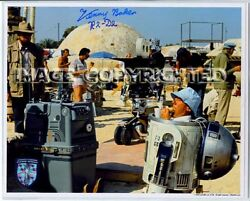 Star Wars Lfl Officially Licensed Hand Autograph Kenny Baker R2d2 W Coa Lunch