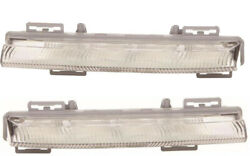 For Mercedes Benz Slk R172 5/2011 Daytime Running Lamps 1 Pair O/s And N/s