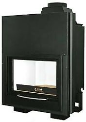 Ctm Italia Basic 18/24/30 Thermofireplaces Door To Vertical Disappearance Wood T