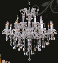 Lmited Edition Maria Theresa Chandelier Golden Teak Crystal C18lts 34wx20and039h Bsc