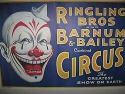 Vintage Ringling Brothers And Barnum And Bailey Combined Circus Poster Near Mint