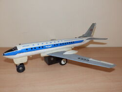 Vintage Ussr Tin/plastic Toy Aircraft Airplane Russian Aeroflot Battery Operated