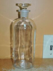 Antique Large 9 T.c.w. Co Apothecary Glass Chemistry Bottle W Stopper Wheaton