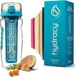 Fruit Infuser Sports Water Bottle With Infusion Rod 32oz Bpa Free Easy Hydration