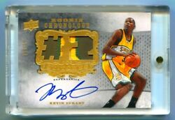 2007-08 CHRONOLOGY STITCHES IN TIME DUAL ROOKIE PATCH AUTO KEVIN DURANT #03/15