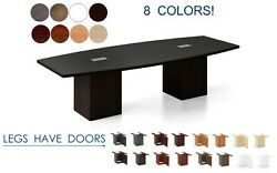 10 Ft Foot Conference Table With Grommets For Power And Legs With Doors 8 Colors