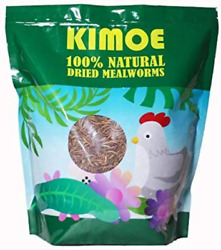 kimoe 5LB 100% Natural High Protein Dried Mealworms For Wild Birds Chickens
