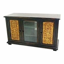 Large Black Lacquer Modern Sideboard Buffet Chest Cabinet Console Table Bookcase