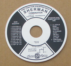 Sherman Transmission Instruction Plate For Ford Trans 4031 4040 4110 4121 4130