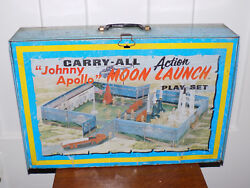 Marx Johnny Apollo Moon Launch Play Set