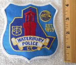 Waterbury Connecticut Police Patch Highway Patrol, Sheriff, Ems