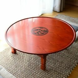 Coffee Table Wood Furniture Folding Leg Antique Vintage Floor Dining Home Tables