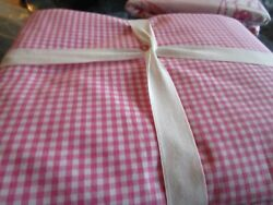 Pottery Barn Kids Gingham Bright Pink Twin Duvet New Wo Tag