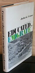 Educated To Emigrate The Social Organization Of Saba. By J Crane - 1st Ed Dj