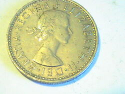 Uk 1957 Great Britain 1 One Shilling Coin