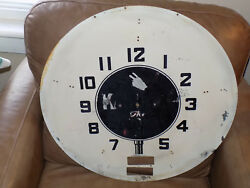 Kendall 2000 Mile Oil 21.5 Inch Metal Clock Face