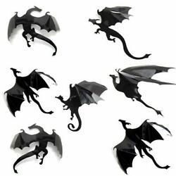 3D DRAGON Wall Decor : 7 PCS Set : Game of Thrones Mother Of Dragons Art Sticker