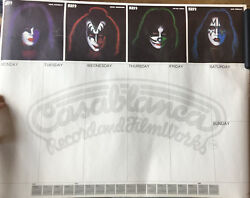 KISS - 1978 SOLO ALBUM Casablanca Records Promo Desk Calendar