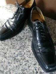 Mercanti Fiorentini Mens Dress Shoes Black Leather Wingtip Lace Up Oxford Sz 10