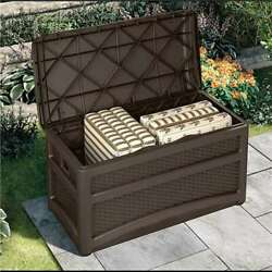 Suncast Outdoor Garden Patio Storage Chest With Handles And Seat Open Box