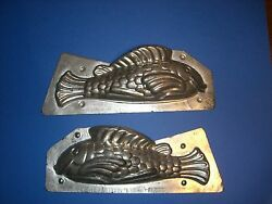 Antique Chocolate Mold Candy Mold 11.5 Tin Fish Mold Metal Mold 1