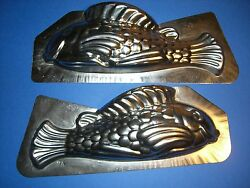 Antique Chocolate Mold Candy Mold 11.5 Tin Fish Mold Metal Mold 4