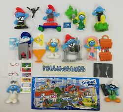 The Smurfs In The City Complete Set With All Papers Kinder Surprise 2018