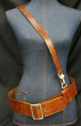 Wwii German Army Officerand039s Double Claw Belt With Over The Shoulder Strap