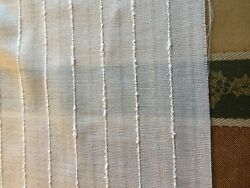 Off-white Sheer Linen-y Reversible Woven Fabric For Multiple Uses, 7 Yd L X 67w