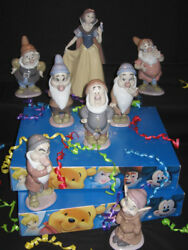 Lladro Collectors Figurine Snow White And The Seven Dwarves Some Signed Mint