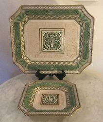 Fitz And Floyd Gregorian Collection 16 Serving Platterandcanapé Plate. Doves. Disc.