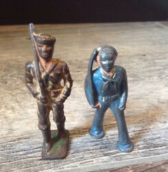 Vintage Barclay-manoil-toy Soldier And Sailor Wwii Lead Figures Lot