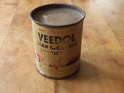 Vintage Veedol Gear Chassis Lube Can Tidewater Oil Co. Gas And Oil Advertising