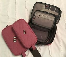 New Bubm Organizer Bags 5 Red Wine Cosmetic Travel Electronics