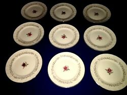 9 Vintage Fine China Of Japan Royal Swirl 6 1/4 Bread Plates Excellent