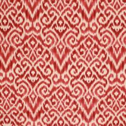 Cotton Linen Ikat Drapery Upholstery Fabric Burgundy Red Rosewood / Jewel Rmil1