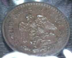 Mexico 1939 Coin One Cent Eagle Bronze Very Nice