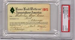 1915 Babe Ruth Ticket Pass PSA First HR18 Wins  Boston Red Sox World Champs Vg