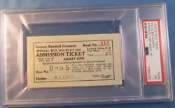1939 Lou Gehrig Ticket Pass Psa Consecutive Streak 2130 Gm Ends/benches Himself